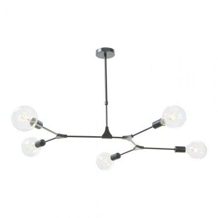 Euphemia 5 Light Pendant Black