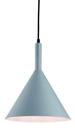 Everest Pendant in Grey Finish with White Inner
