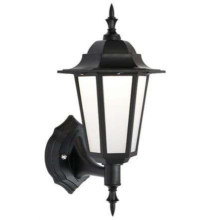 Evesham Black Wall Lantern IP44 7W Cool White