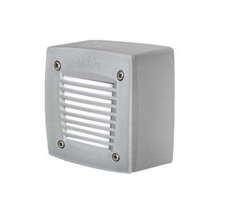 Extraleti100 Square With Grill Surface Mounted Wall Light in Grey