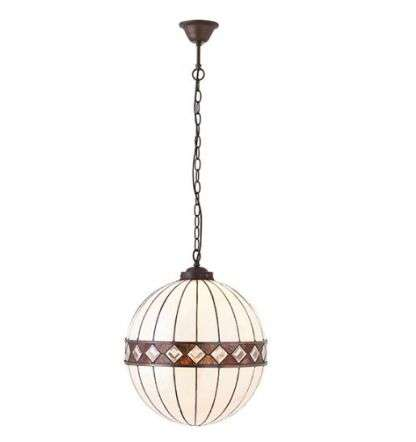 Fargo Medium Globe 1 Light Pendant 60W
