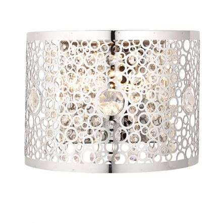 Fayola Crystal Wall Light in Chrome