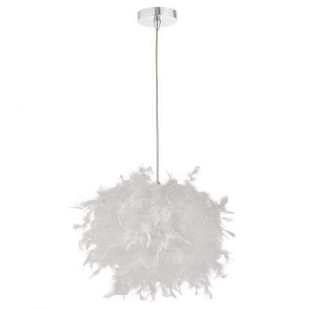 Feather Easy Fit Pendant White