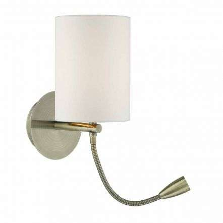 Feta Wall Light Antique Brass Base Only
