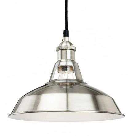 Firstlight Albany Pendant Light Brushed Steel