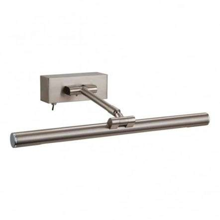 Firstlight Modern Brushed Steel Picture Light With Switch