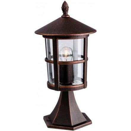 Firstlight Stratford Single Pillar Lantern Die Cast Aluminium, Bronze