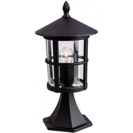 Firstlight Stratford Single Pillar Lantern Die Cast Aluminium in Black