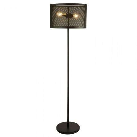 Fishnet 2 Light Floor Lamp Matt Black