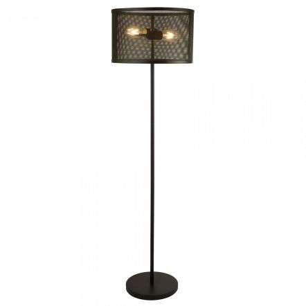 Fishnet 2 Light Floor Lamp Matt Black