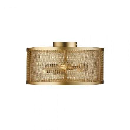 Fishnet 3 Light Drum Flush Matt Gold