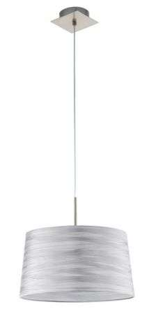 Fonsea 1 Light Ceiling Pendant White Silver