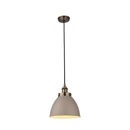 Franklin Pendant Taupe & Antique Brass Diameter 235mm