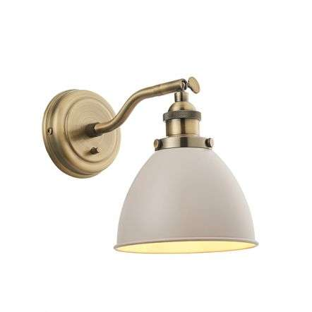 Franklin Wall Light Taupe & Antique Brass