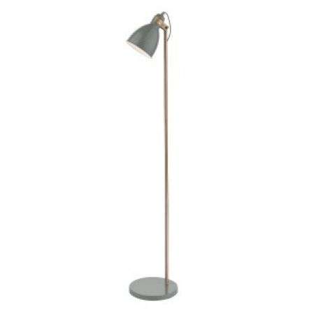 Frederick Floor Lamp Gloss Grey/Copper