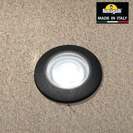 Fumagalli ALDORDBL Aldo Round Black 1.7W Walkover or Recessed Wall Light