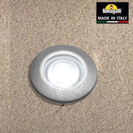 Fumagalli ALDORDGY Aldo Round Grey 1.7W Walkover or Recessed Wall Light