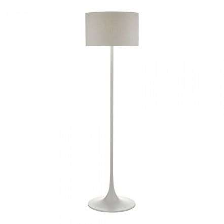 Funchal Floor Lamp Grey with Shade