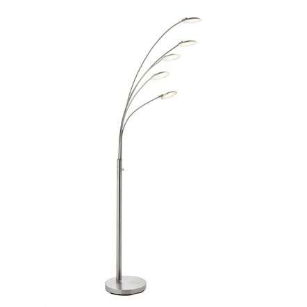Fynn 5 Light Floor Lamp 5W Satin Nickel Finish