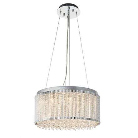 Galina 12 Light Crystal Pendant in Chrome Finish