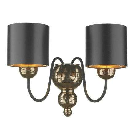 Garbo Double Wall Bracket Bronze complete with Black Bronze Shades