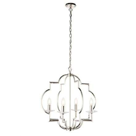 Garland 4 Light Pendant in Polished Nickel