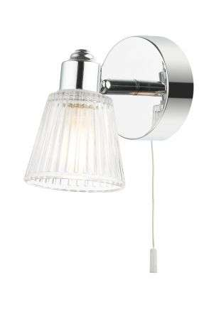 Gatsby 1 Light Bathroom Wall Light Polished Chrome
