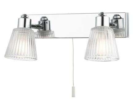 Gatsby 2 Light Bathroom Wall Light Polished Chrome
