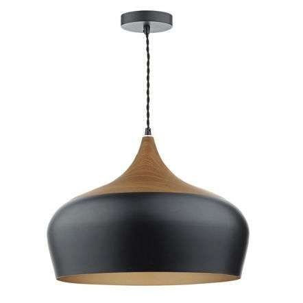Gaucho 1 Light Pendant Black Large