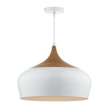 Gaucho 1 Light Pendant White Large