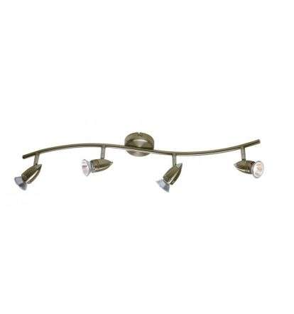 Gemini 4-Light Antique Brass Spot Light