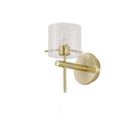 Gene Single Wall Light in Satin Brass IP44
