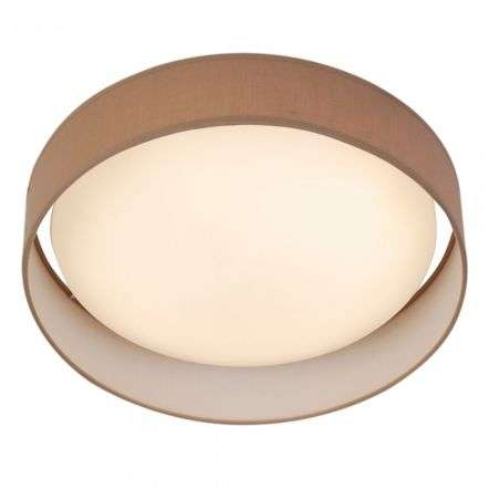 Gianna 1 Light 370mm Flush Ceiling Light Brown Shade
