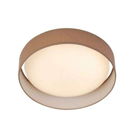 Gianna 1 Light 500mm Flush Ceiling Light Brown Shade