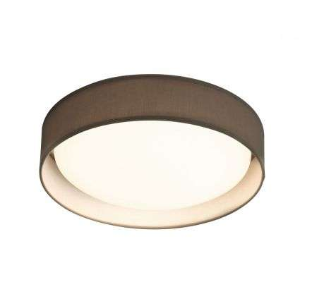 Gianna 1 Light 500mm Flush Ceiling Light Grey Shade