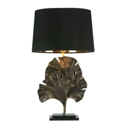 Gingko Table lamp Black Gold Base Only