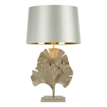 Gingko Table Lamp Cream Gold Base Only