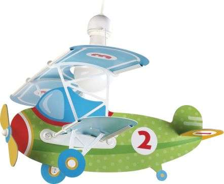 Green Baby Plane Pendant Light