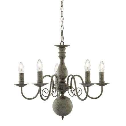 Greythorne 5 Light Ceiling, Textured Grey Finish