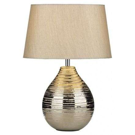 Gustav Table Lamp Small Silver with Silver Shade