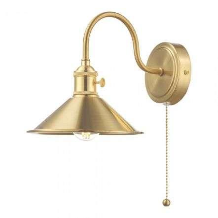 Hadano Brass Wall Light With Brass Shade