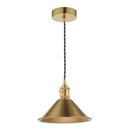 Hadano Pendant in Natural Brass With Aged Brass Shade