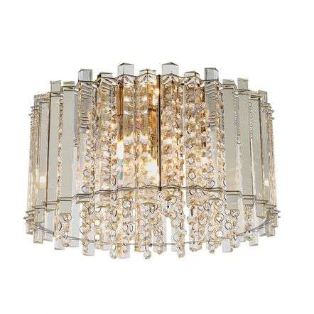 Hanna Crystal 4 Light Flush Fitting