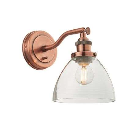 Hansen 1lt Wall Fitting in Aged Copper 40W SW