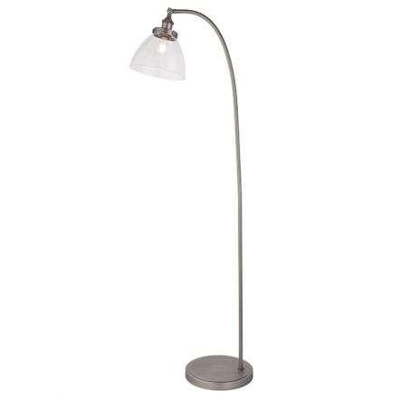 Hansen Floor Lamp in Brushed Silver Finish