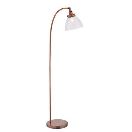 Hansen Task Floor Aged Copper Finish 40W SW