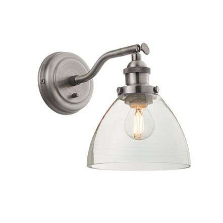 Hansen Wall Light in Brushed Silver