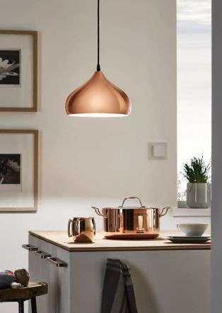 Hapton 1 Light Ceiling Pendant Copper