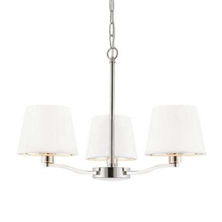 Harvey 3 Light Pendant in Nickel Finish