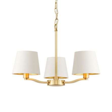 Harvey 3 Light Pendant in Satin Gold Finish